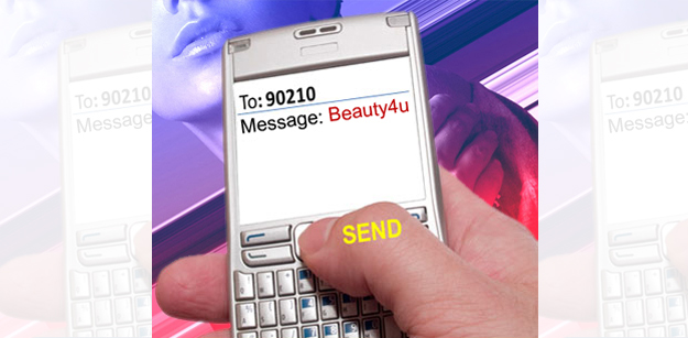 Text Beauty4u to 90210